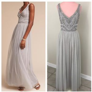 Anthropologie BHLDN Sterling Dress in Fog NWOT